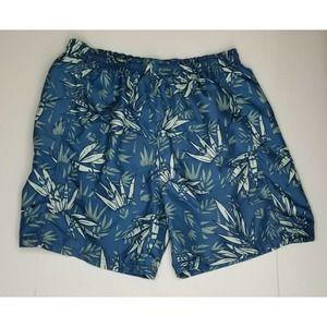 Newport Blue Swimwear Trunks Tropical Print XL